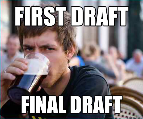 first draft final draft